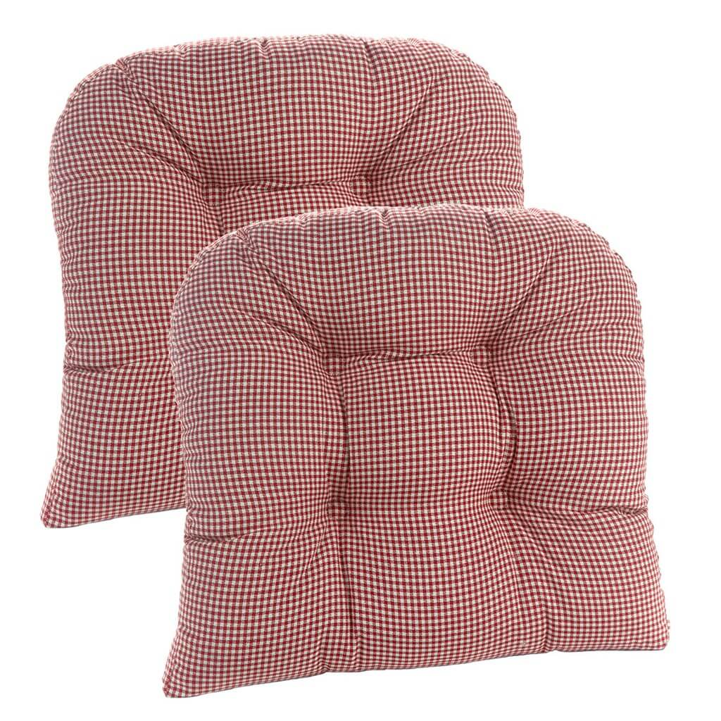 Red Gingham Cushions set of 2