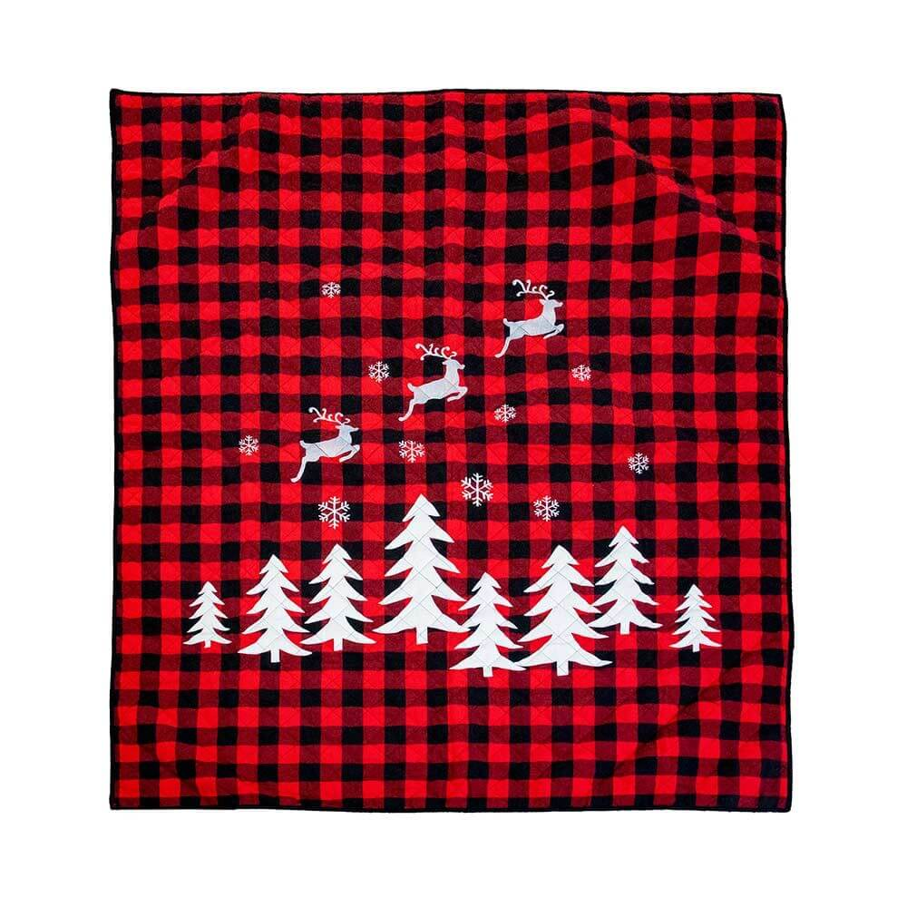 Buffalo Red and Black Checked Throw