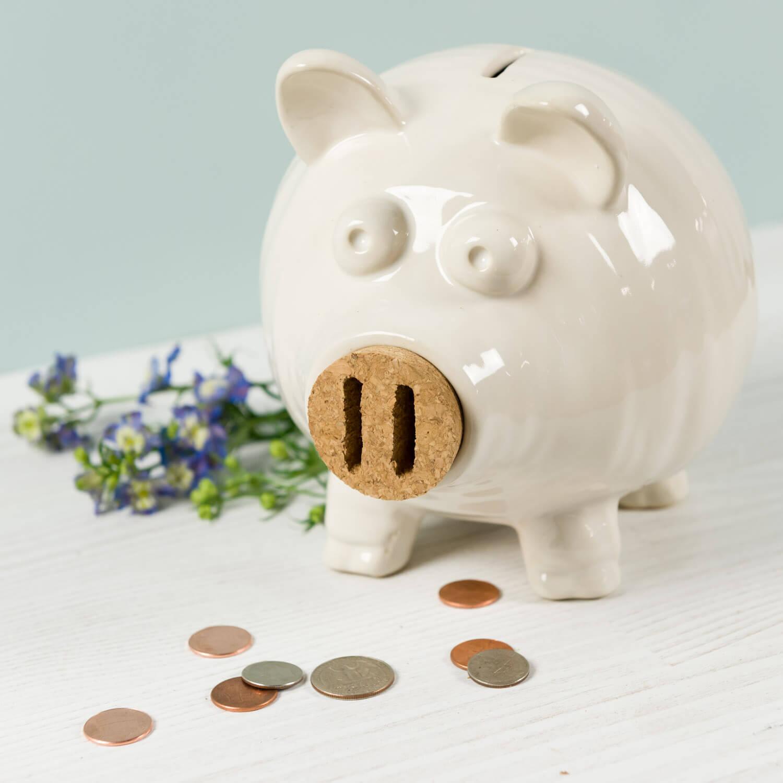 Oh Gussie Stoneware Piggy Bank