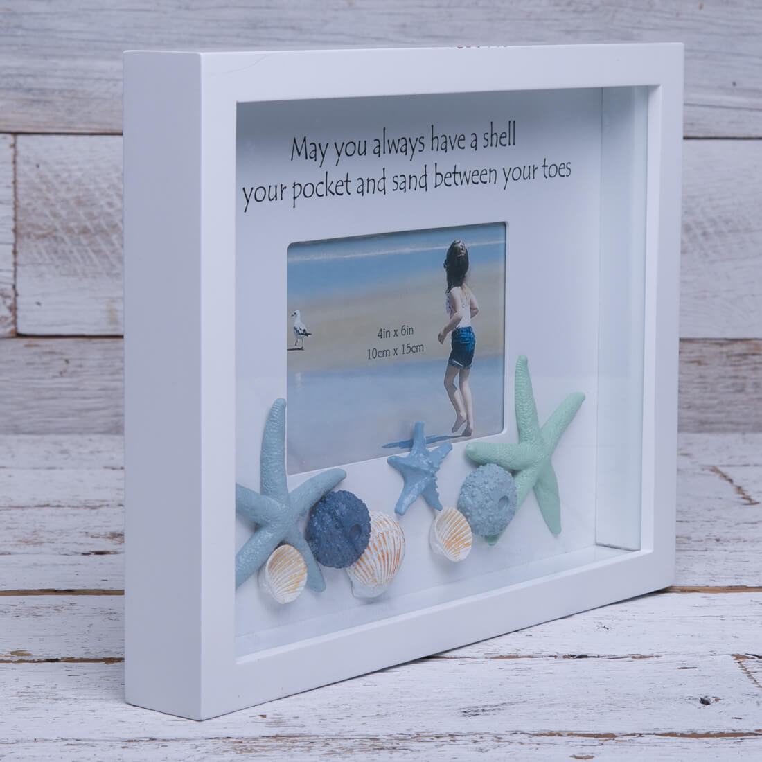 Shells Shadow Box Pillow Frame