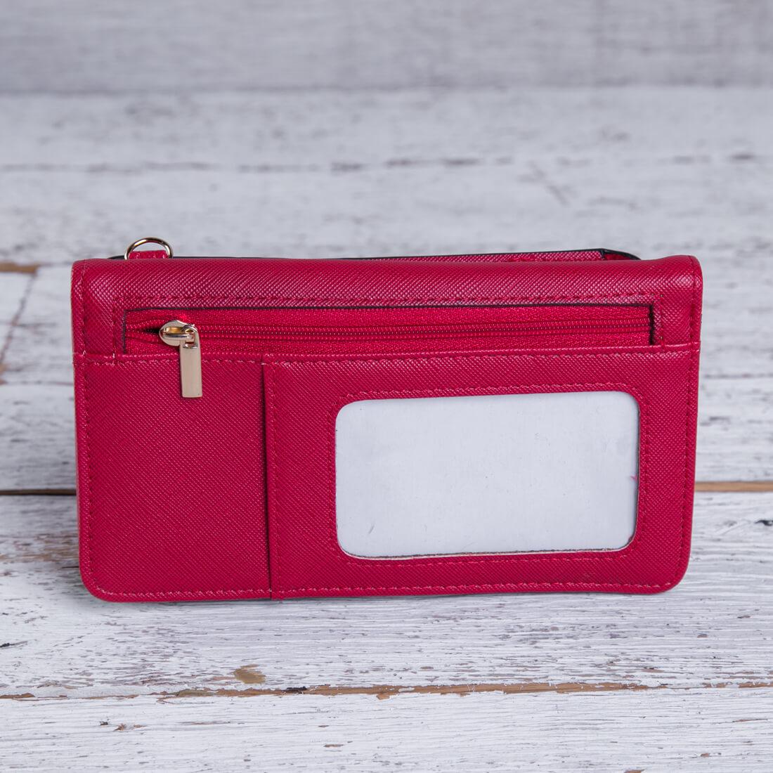 Red Crossbody Wallet