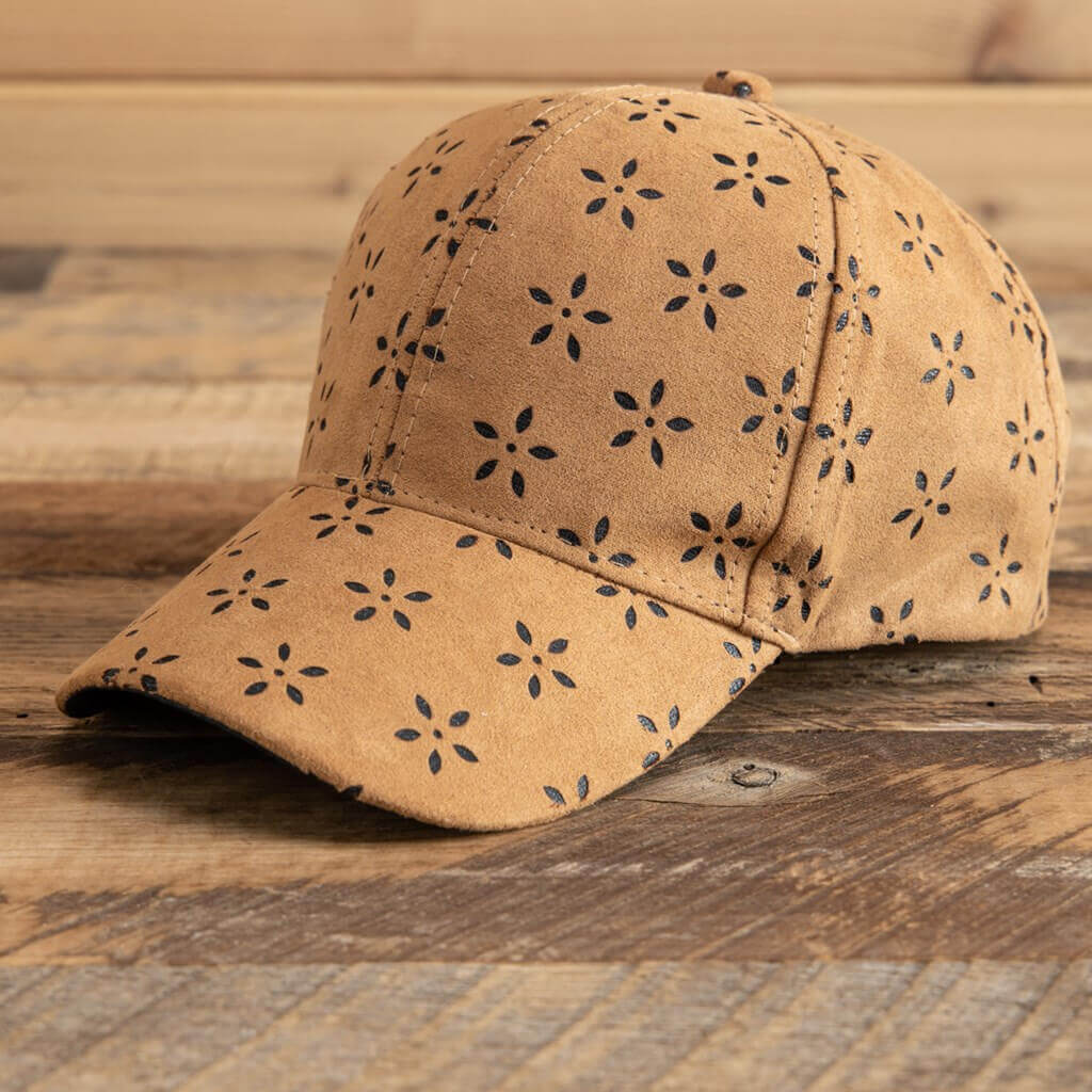 Women's die-cut baseball cap Suede