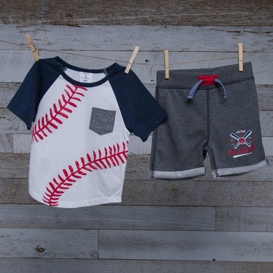 Baseball Tee and Short Set