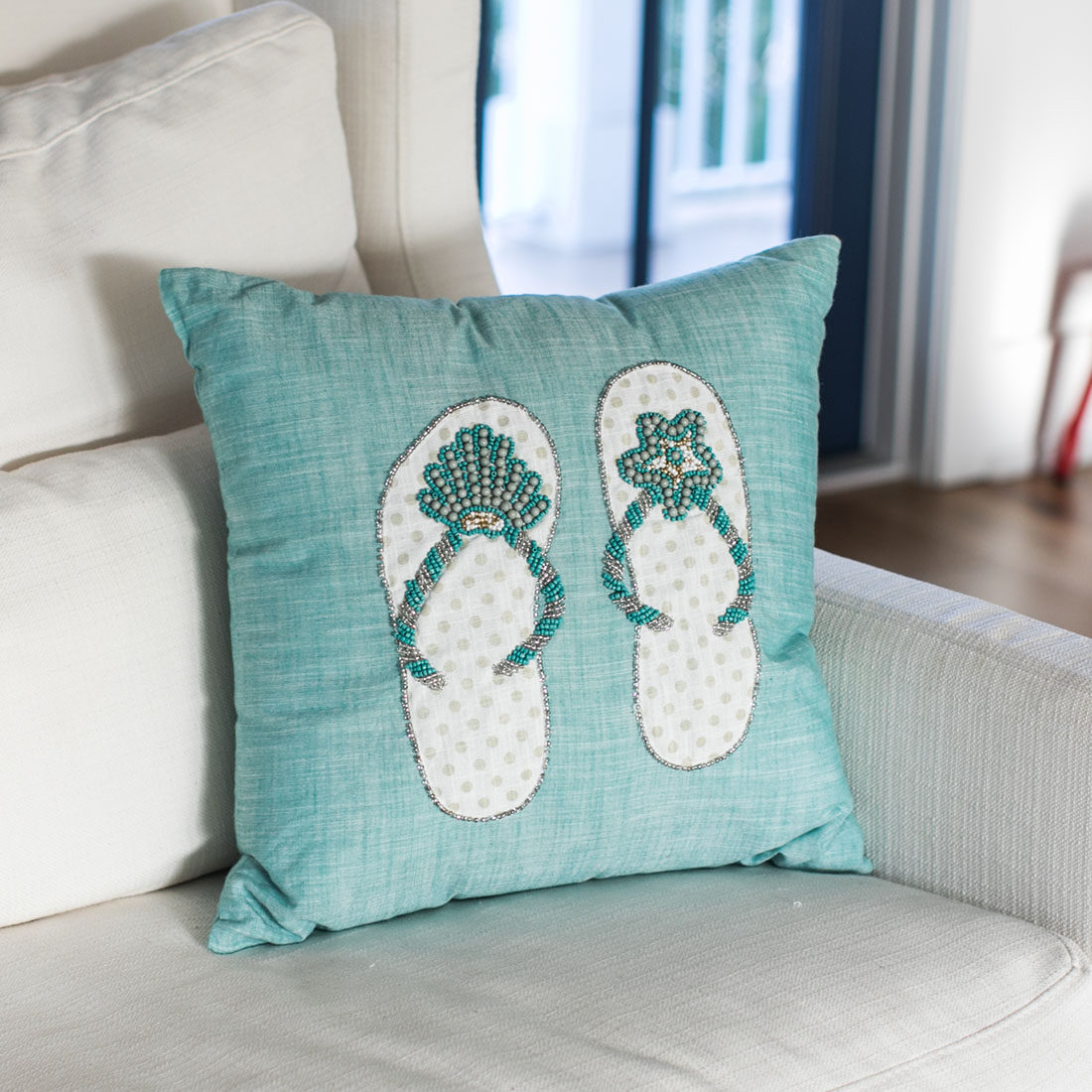 Coastal Sandals Pillow