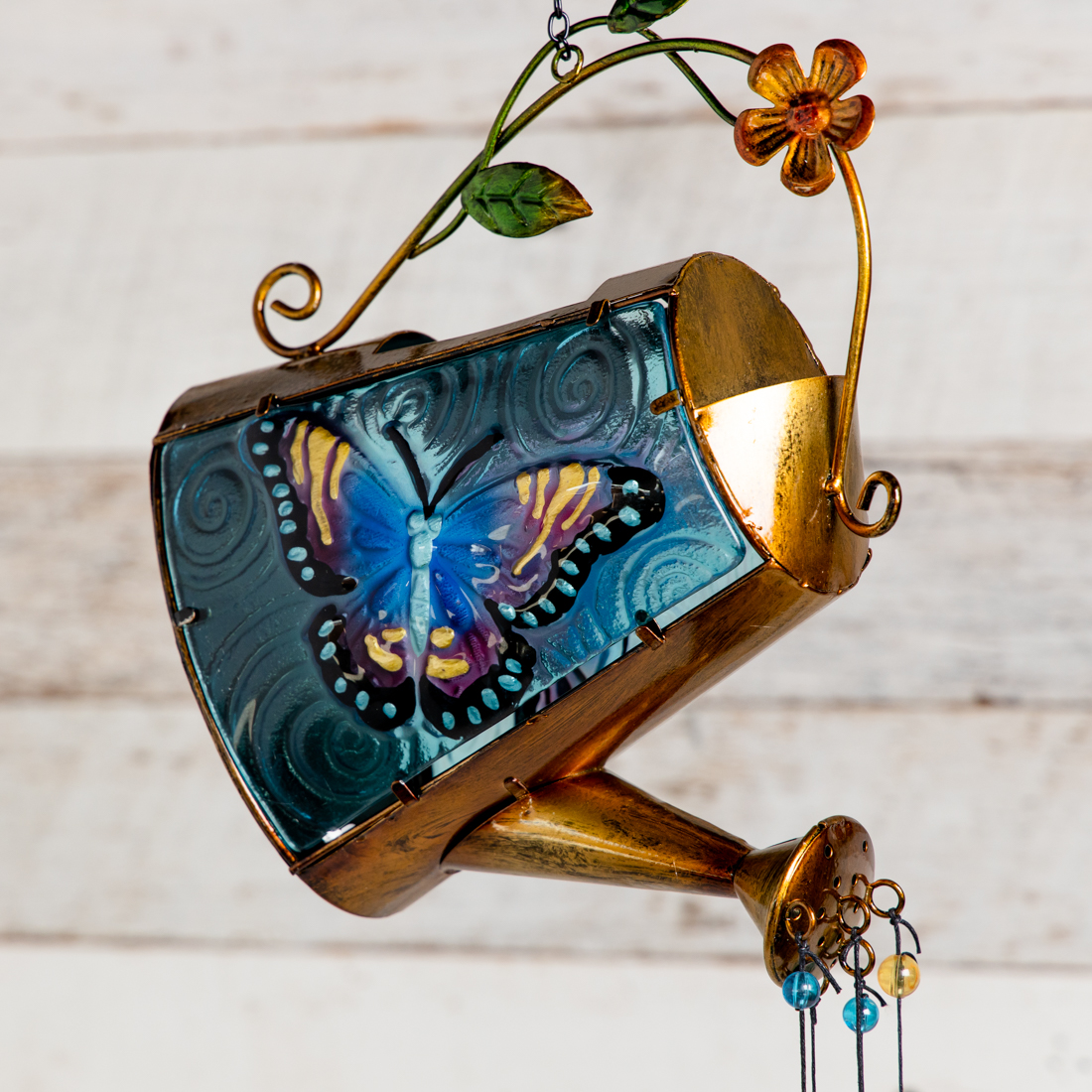 Solar Watering Can Wind Chime