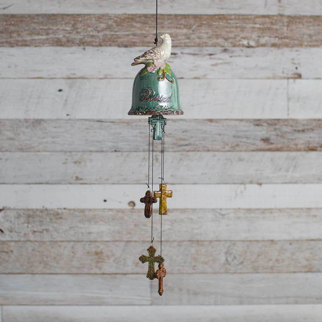 Ceramic Bell with Bird Wind Chime