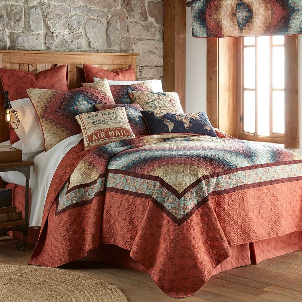 Donna Sharp Cinnamon Spice Queen Sized Quilt