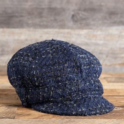 Blue Cabbie Hat