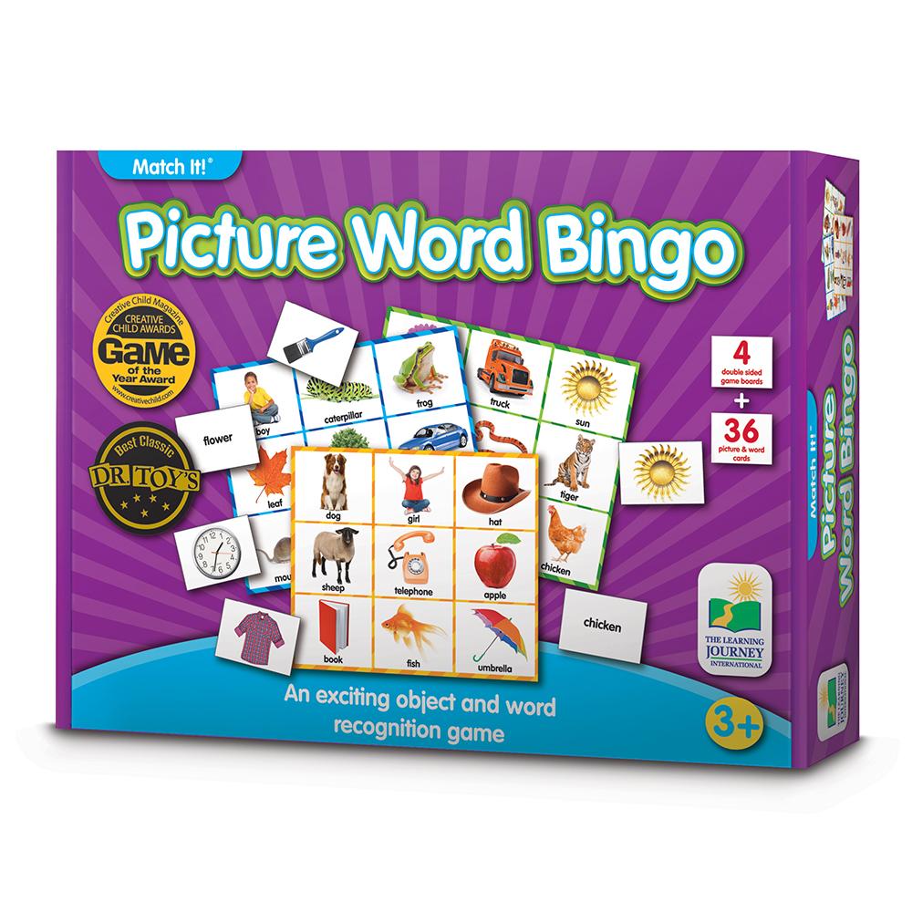 Match It! Picture Word Bingo Game