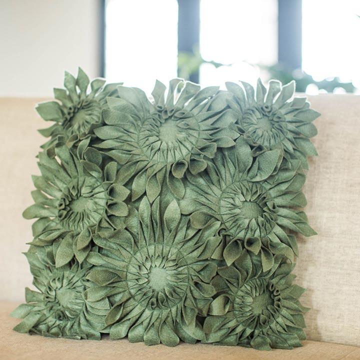 Felt Sunflower Pillow