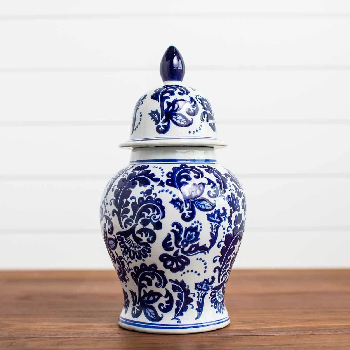 Porcelain Ginger Jar with Dome Lid