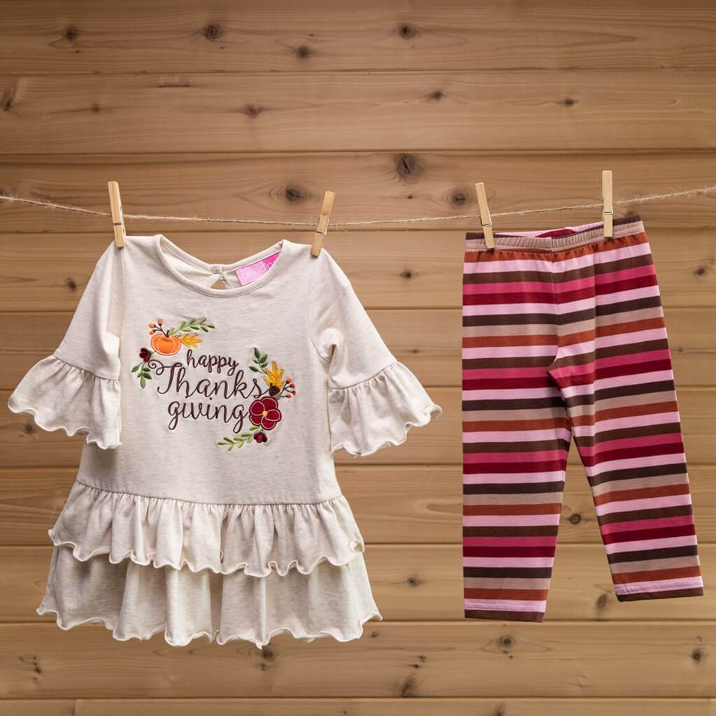 Harvest toddler 2 piece outfit Thanksgiving