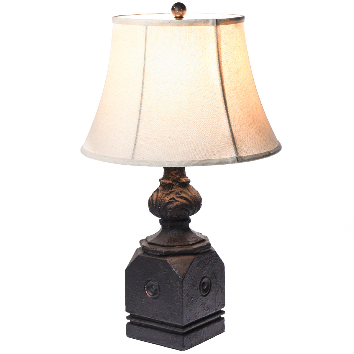 Wood Post Table Lamp