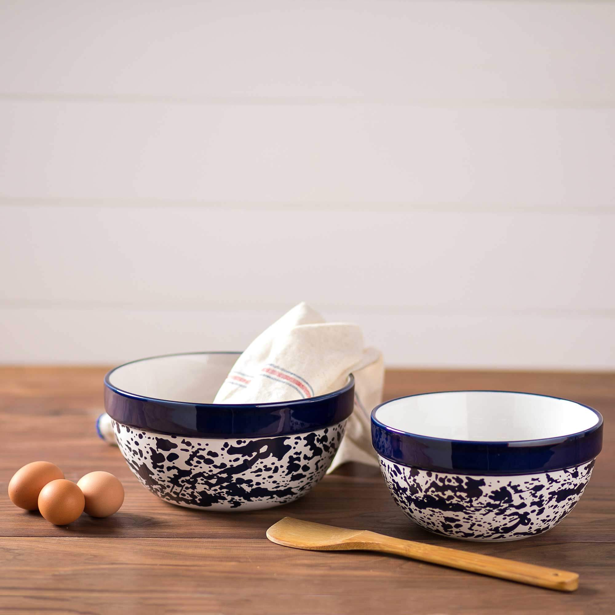 2-Piece Splatterware Mixing Bowl Set