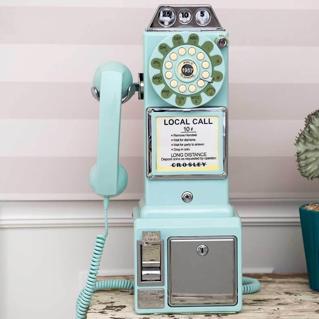 Teal 1950's Pay Phone