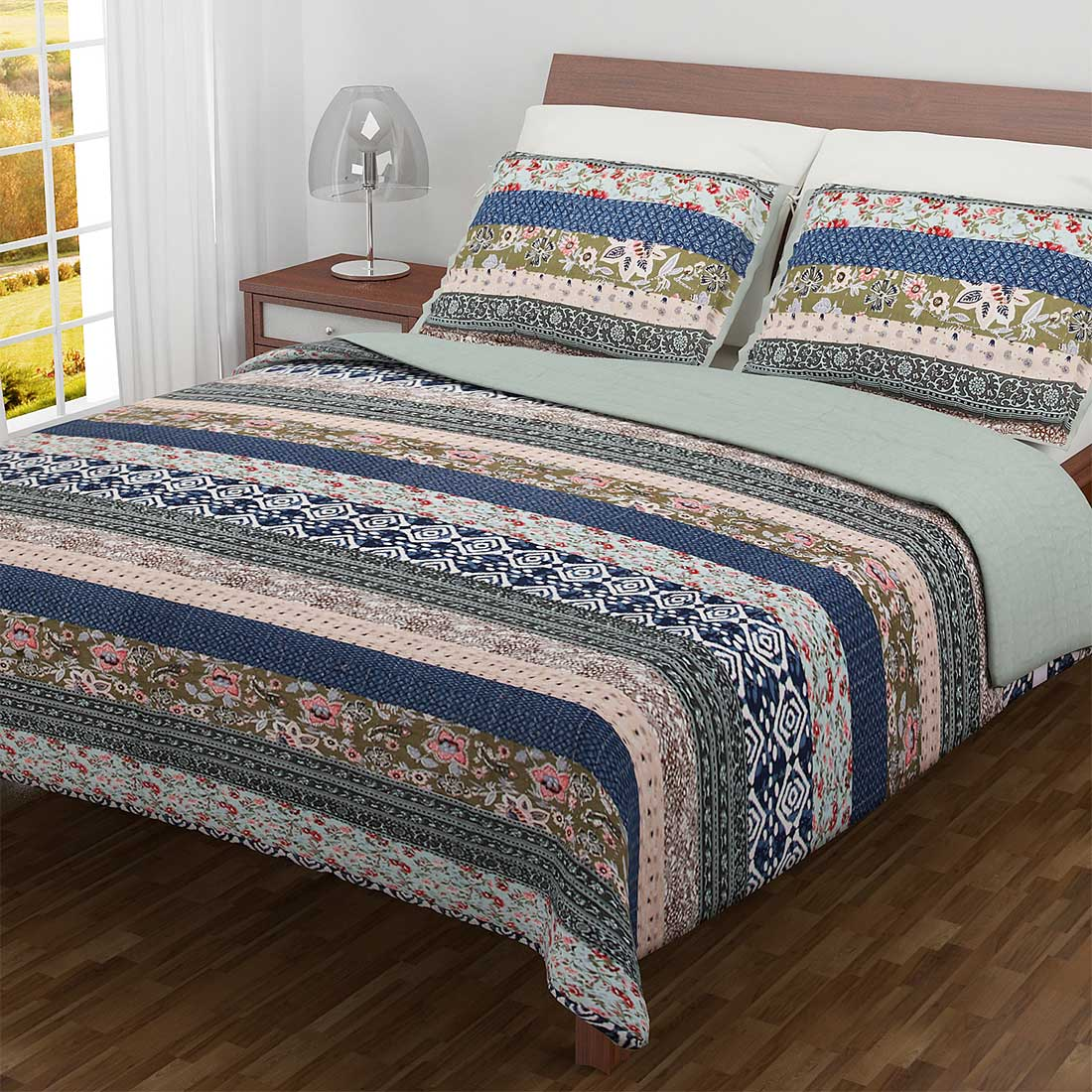Kimberly Quilted Patchwork Quilts and Shams