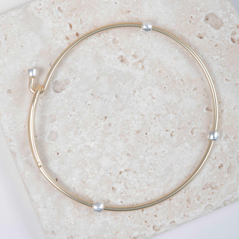 2 Toned Gold Charm Bracelet