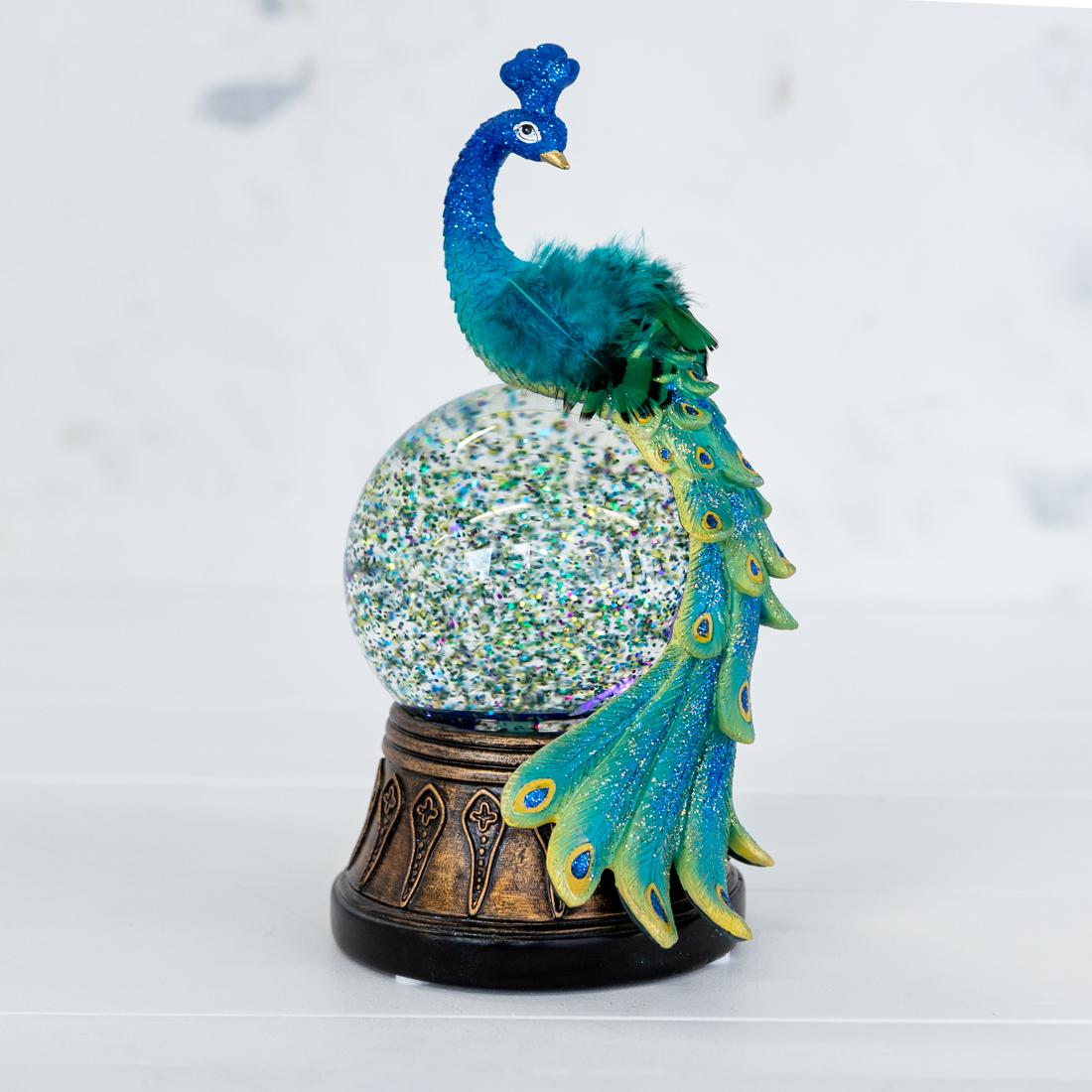 Peacock Water Globe