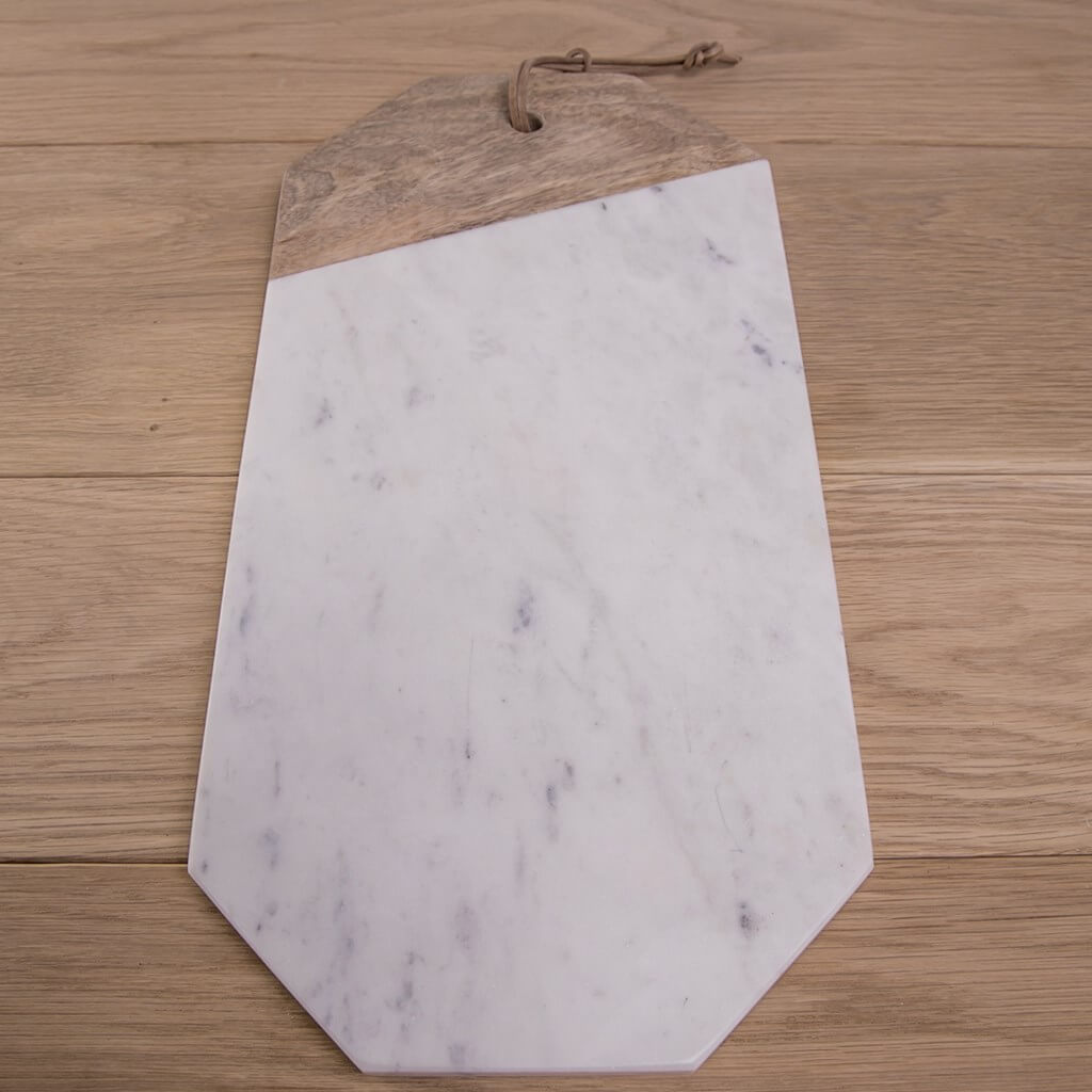 Vintage wood marble cutting board