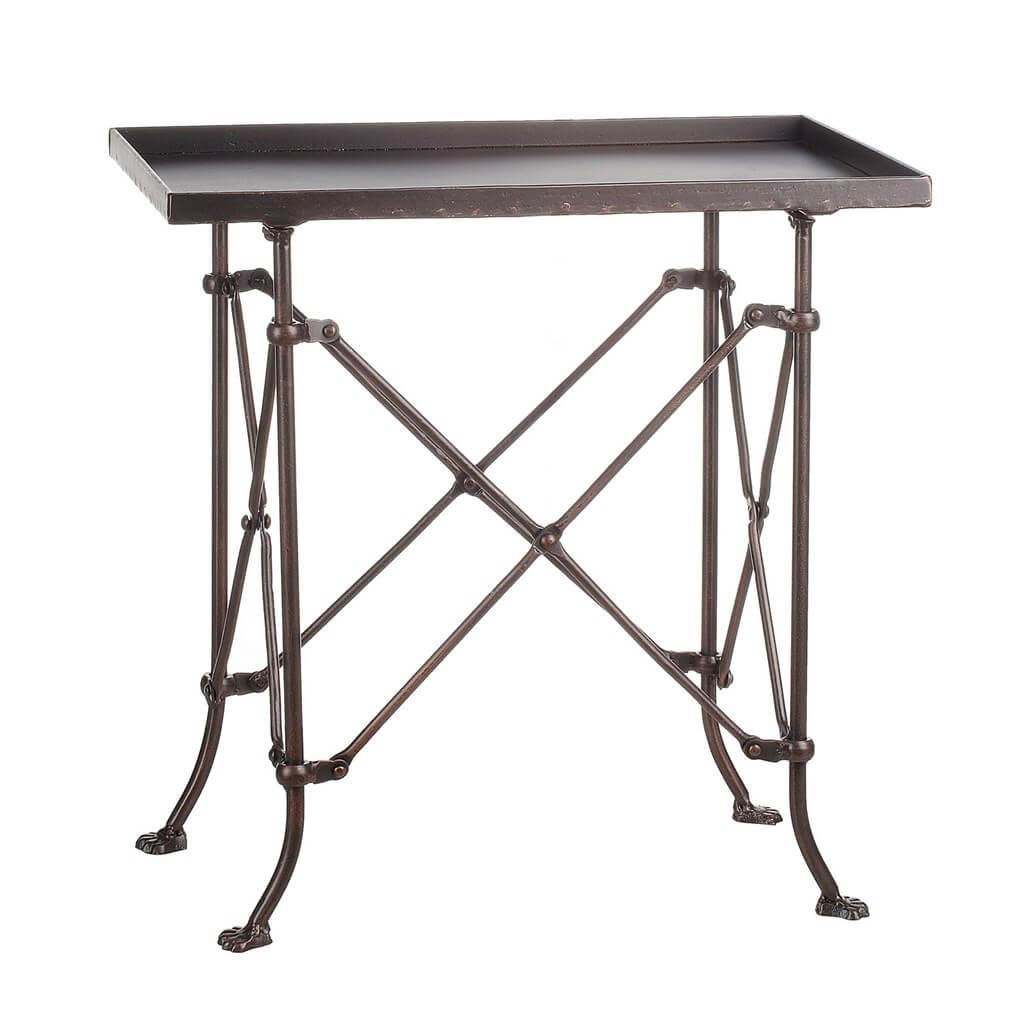 Bronze Accent Side Table