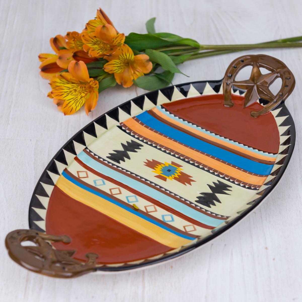 Stoneware Southwest Platter