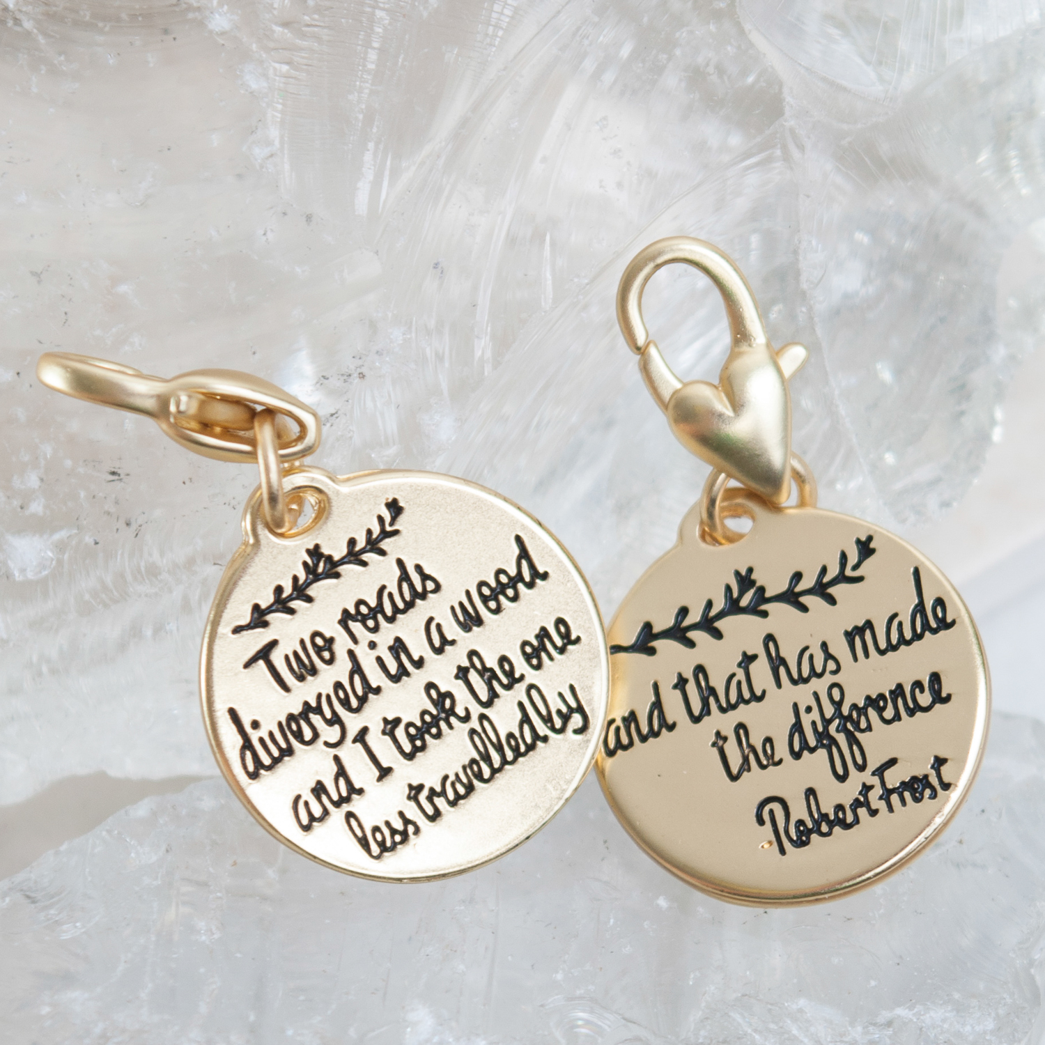 Two Roads Robert Frost Charm