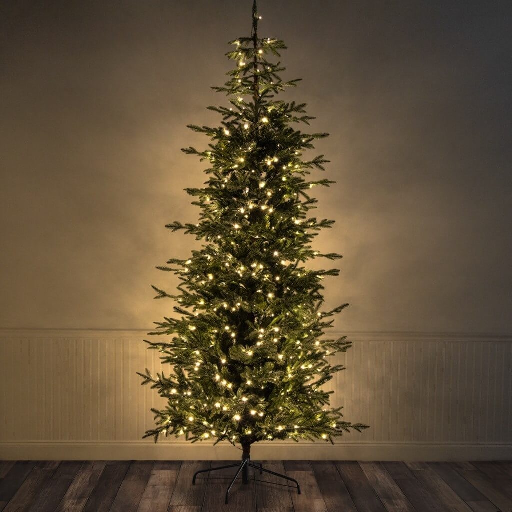 9 foot Pre-Lit Iced Spruce Christmas Tree