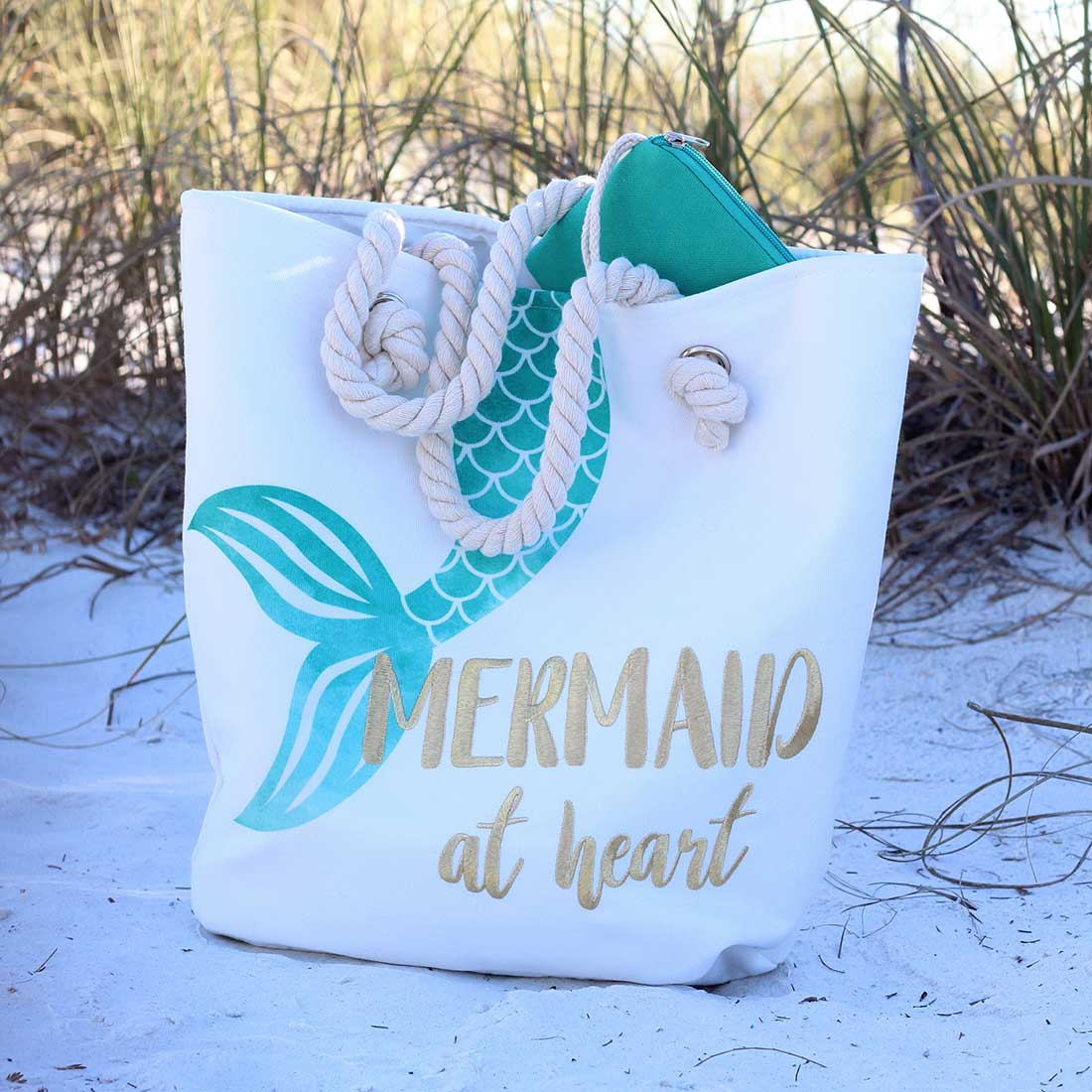 Mermaid at Heart Rope Handle Bag