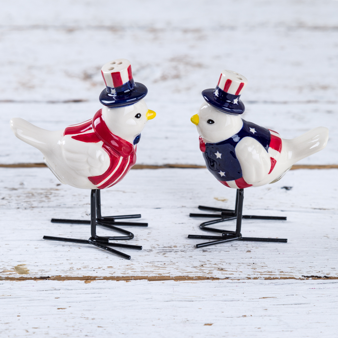 Patriotic Birds Salt and Pepper Shaker Set