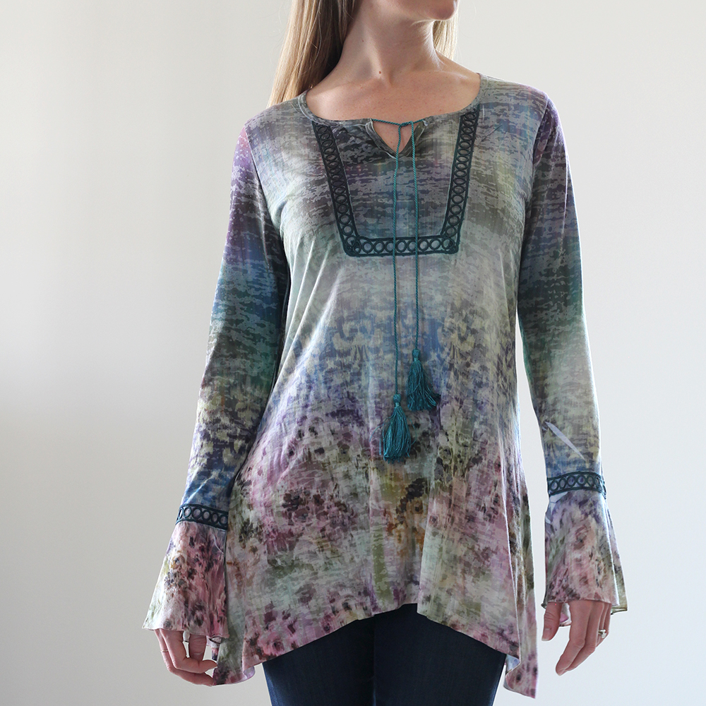 Multi Watercolor Tunic