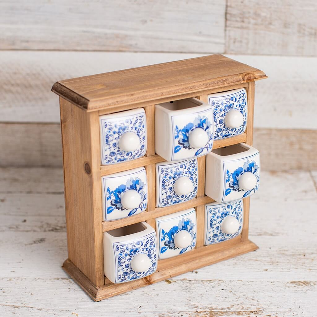 Tabletop Cabinet With Ceramic Drawers
