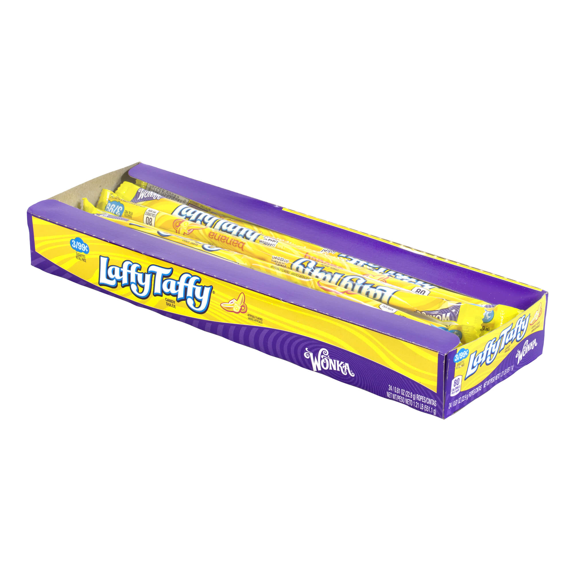 Laffy Taffy Ropes Banana - 24 Count