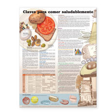 Keys to Healthy Eating Anatomical Chart in Spanish (Claves Para Una Alimentación Saludable)