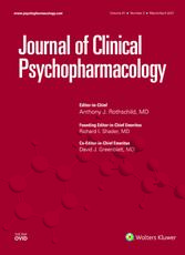 Journal of Clinical Psychopharmacology