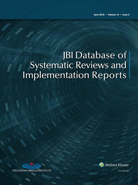 JBI Database of Systematic Reviews and Implementation Reports