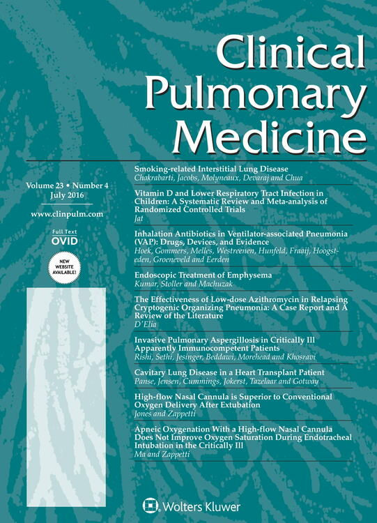 Clinical Pulmonary Medicine