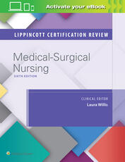 Medical surgical 2018 wolters kluwer book lippincott certification review medical surgical nursing fandeluxe Gallery