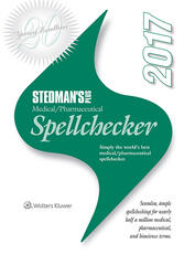 Stedman's Plus 2017 Medical/Pharmaceutical Spellchecker (Single User Download)