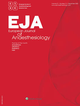 European Journal of Anaesthesiology