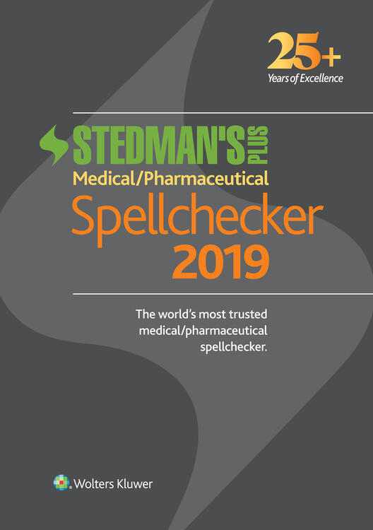 Stedman's Plus 2019 Medical/Pharmaceutical Spellchecker (Standard Download)