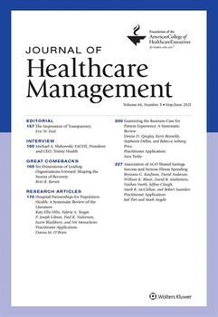 Journal of Healthcare Management Online