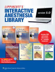 Lippincott Interactive Anesthesia Library on DVD-ROM