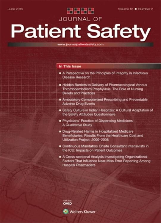 Journal of Patient Safety