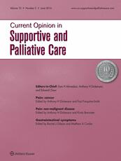 Current Opinion in Supportive and Palliative Care Online