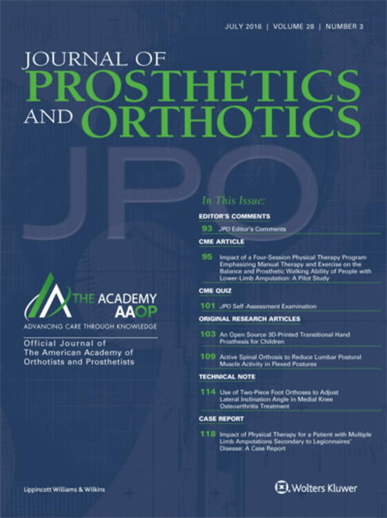 Journal of Prosthetics and Orthotics(JPO)