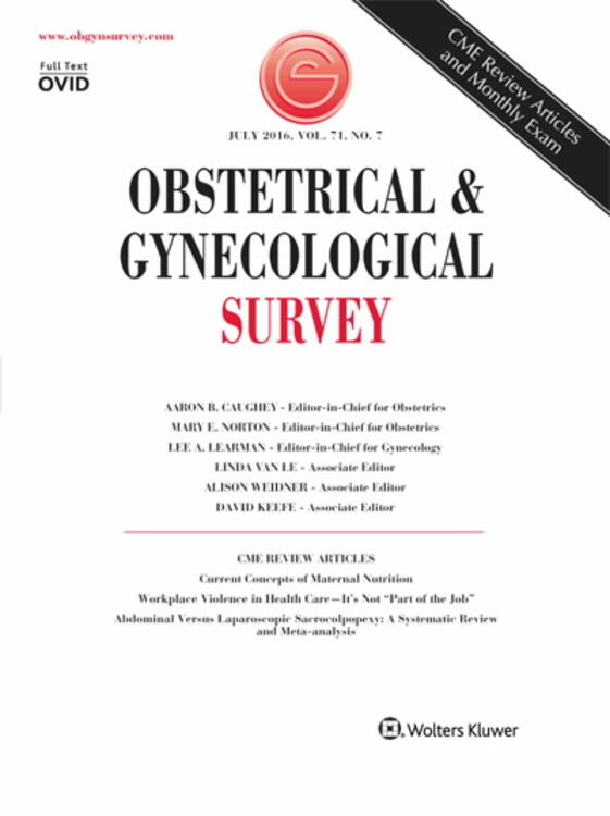 Obstetrical & Gynecological Survey