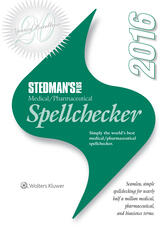 Stedman's Plus 2016 Medical/Pharmaceutical Spellchecker (Standard)