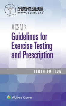 ACSM's Guidelines 10e paperback and Certification Review 5e Package