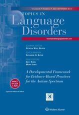 Topics in Language Disorders