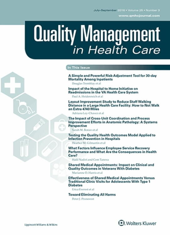 Quality Management in Health Care